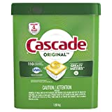 "Cascade ActionPacs, Dishwasher Detergent, Lemon Scent, 110 count, ""packaging may vary"""
