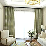 Blackout Curtains Finished Simple and Modern Floor to Ceiling Windows Bedroom Living Room Bay Window 2018 New (Size : 2 * 2.65m)