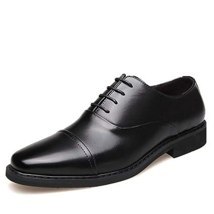 c6f732435539 Zaqxs Men s Shoes Men s Business Dress Shoes Three Joint Men s Shoes  Leather Daily Work Shoes (