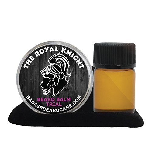 Badass Beard Care Beard Oil and Balm Trial Pack For Men - The Royal Knight Scent - Natural Ingredients, Keeps Beard and Mustache Full, Soft and Healthy, Reduce Itchy & Promote Healthy Growth