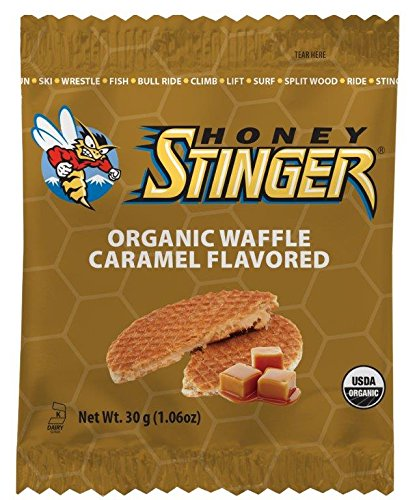 Wafer Head Stingers (Honey Stinger Organic Waffle, Caramel, Sports Nutrition, 1.06 Ounce (16 Count))