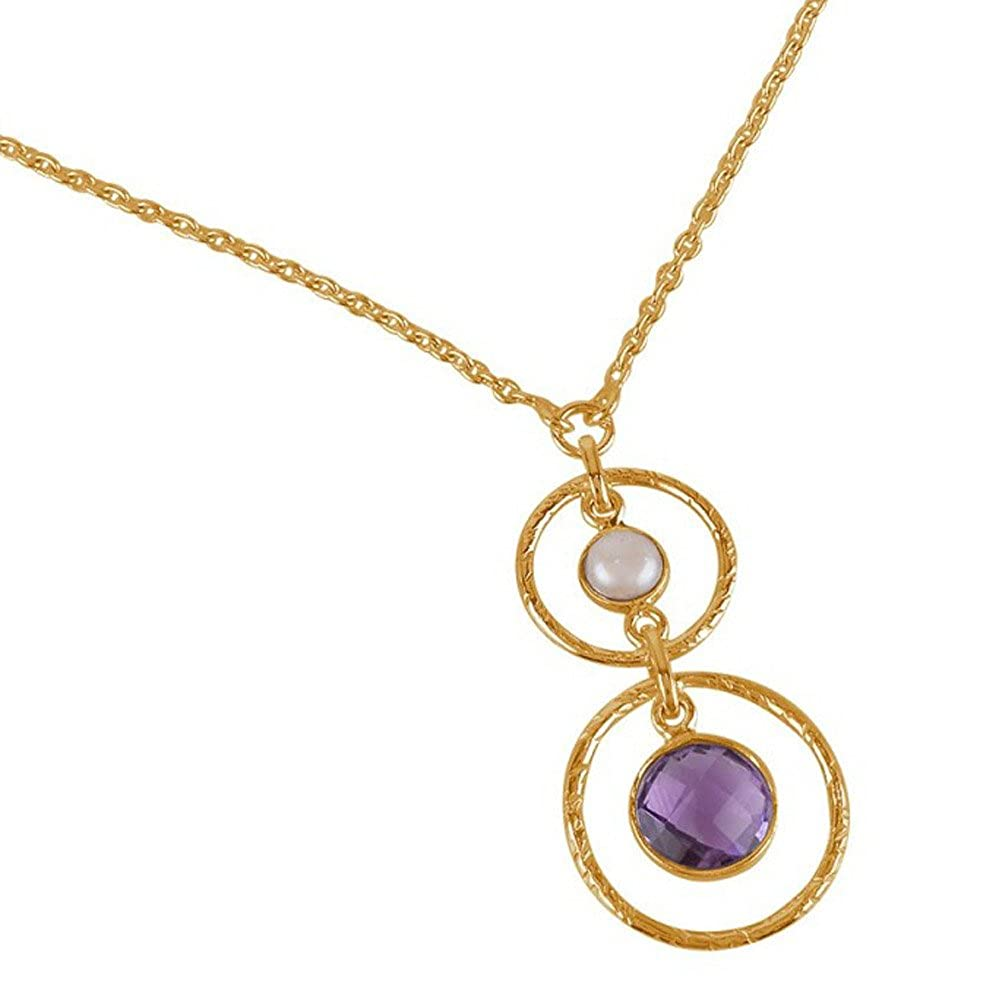 Nathis Pearl Amethyst and Dangle Necklace