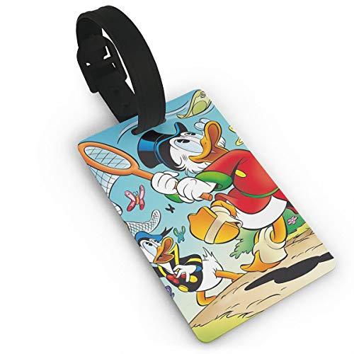 - Meirdre Donald Duck and Butterflies Luggage Tags Suitcase Labels Bag Travel Accessories