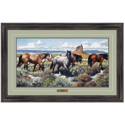 Reflective Art, Boar's Tusk, Dark Walnut Framed, 27 by 42-inch