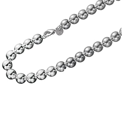 Silver 2mm Bead Ball Link Necklace Chain Sterling 925 20