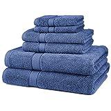 Pinzon Juego de 6 toallas de algodón egipcio de 725 g, color violeta