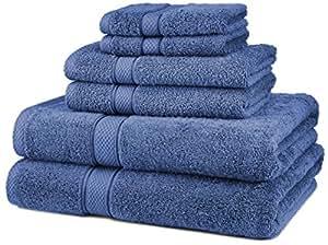 Pinzon Blended Egyptian Cotton 6-Piece Towel Set, Wedgewood