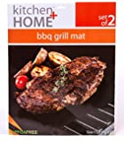 """BBQ Grill Mats -100% Non-stick, easy to clean and reusable- 15.75 x 13"""" - (Set of 2)"""