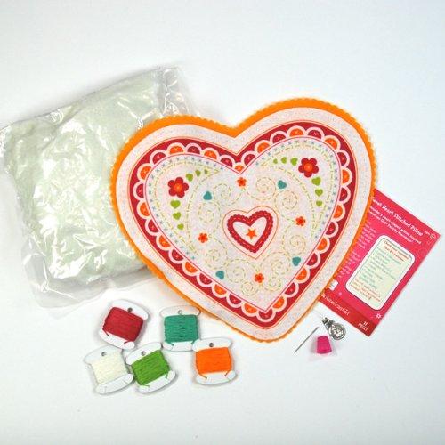 EK Success American Girl Crafts Embroidered Pillow Kit, Felicity Sweet Heart