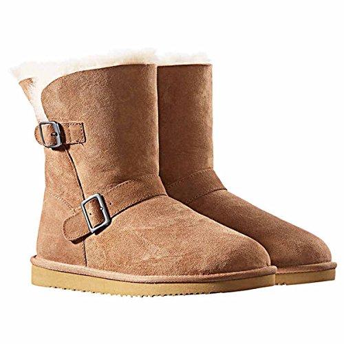 Kirkland Signature Women's Shearling Buckle Boots (9)