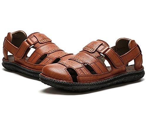 Camel Mens Stylish Closed Toe Dress Sandals Color Brown Size 43 M EU