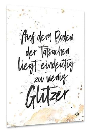 Amazon De Artboxone Poster 150x100 Cm Zu Wenig Glitzer Von Kunstler