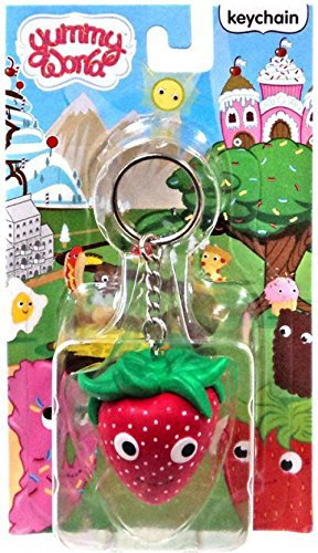 Yummy World Kidrobot Strawberry 2 3D Vinyl Keychain 2//24 Case a Ratio