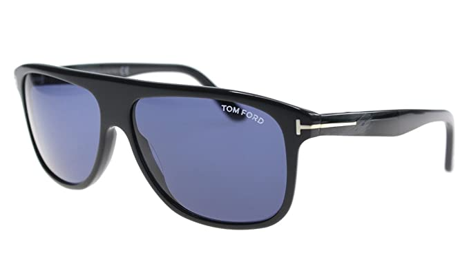 9e2cb1dfb9d9 Tom Ford Inigo FT-501 20V Men Dark Gray T-Logo Square Wayfarer ...