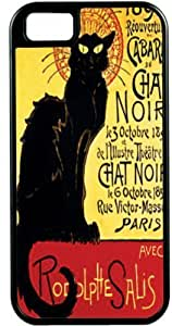 Rikki KnightTM La Chat Noir Black Tough-It for iPhone5s (Double Layer case with Silicone Protection)