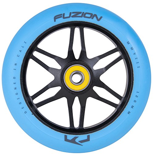 Fuzion Pro Scooters Ace Wheel 120mm (Black Ano with Blue)