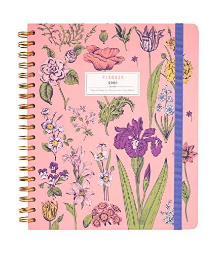 Amazon.com : Flowers Weekly Planner, Planner for 2019-2020 ...