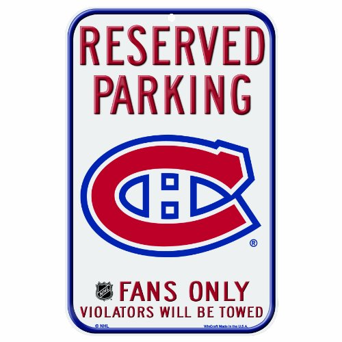NHL Montreal Canadiens 11-by-17 Inch Locker Room Sign Montreal Canadiens Collectibles