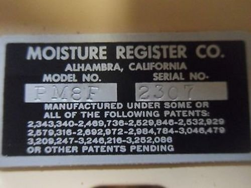 1 New Moisture Register Pm8F Moisture Meter W/ Case (X12) by MOISTURE REGISTER