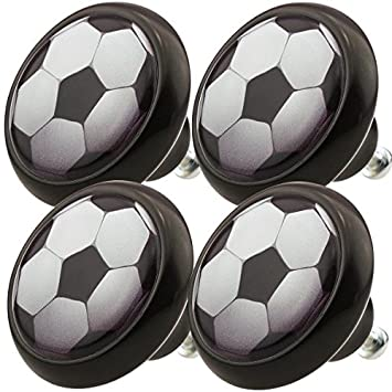 Ceramic Knobs Assorted Set 0010S Soccer Football 4pcs with modern ...