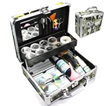 New Professional Eyelash Extension False Eye Lash Full Kit Set with Fashion Hard Case Suitcase A150 by WindMax