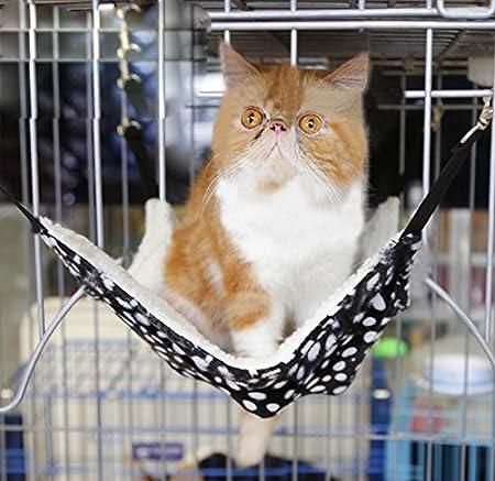 WEIXIA Gato Grande Jaula Hamaca Hamaca Mascota Gato Mate Gatos, 2 ...