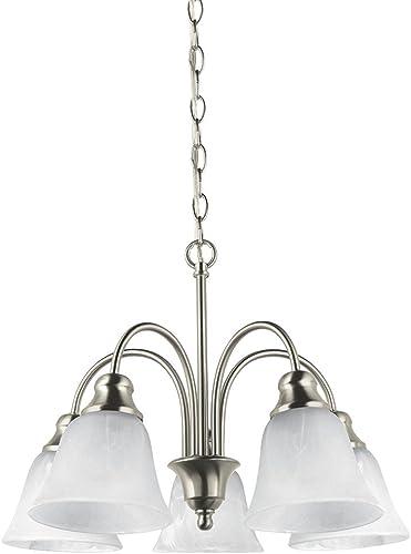 Sea Gull Lighting 35950-962 Windgate Five Light Chandelier Hanging Modern Fixture, Brushed Nickel