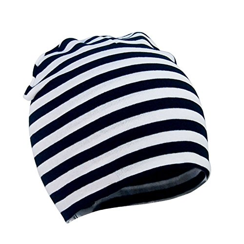 (Zando Cotton Soft Warm Toddler Baby Beanie Hat Knitted Cute Beanies Caps for Child Kids Lovely Skull Winter Boys Beanie Black White)