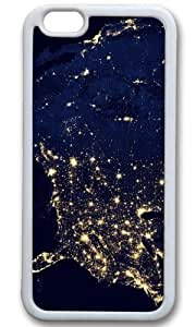 America Space Nice Map Thanksgiving Halloween Masterpiece Limited Design TPU White Case for iPhone 6 Plus by Cases & Mousepads
