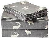 Eddie Bauer Elk Grove Flannel Sheet Set Queen Gray