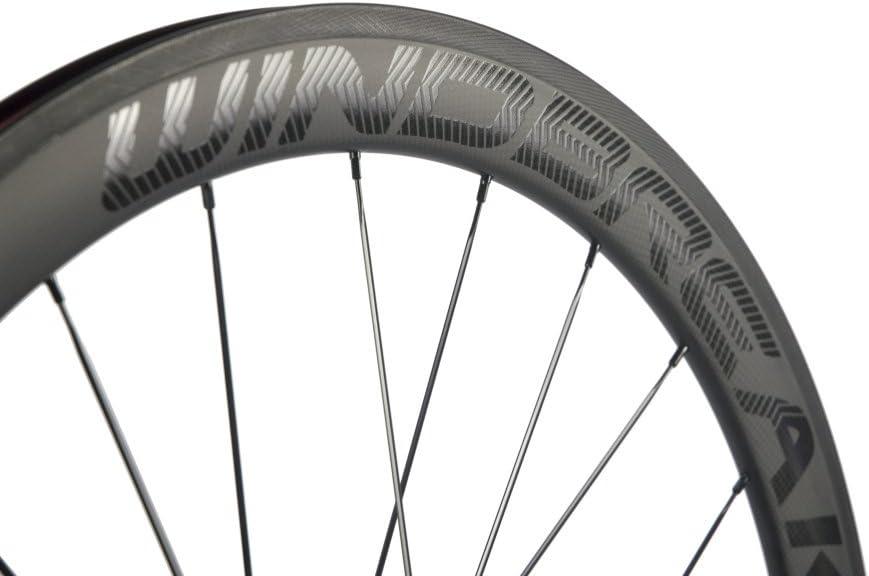 WINDBREAK BIKE Carbon Road Wheels 700C 50mm Clincher Wheelset 3k Matte Finish with Decal