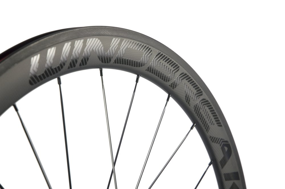 Sunrise Bike Carbon Road Wheels 700C 50mm Clincher Wheelset 3k Matte Finish with Decal by SunRise (Image #5)
