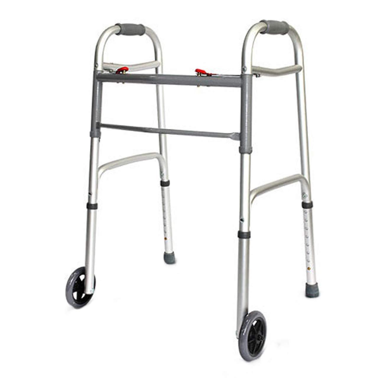 高齢歩行者、折り畳みアルミ構造歩行歩行器、四脚/二輪補助歩行器、マルチスタイルオプション (設計 : B) B  B07L2K5LQP