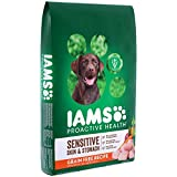 IAMS PROACTIVE HEALTH Sensitive Skin & Stomach Grain Free Dry Dog Food with Real Chicken and Peas, 10.3 lb. Bag