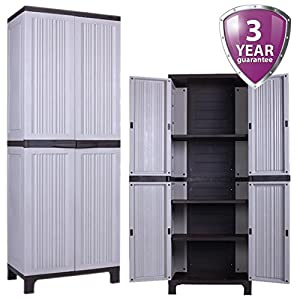 tall outdoor storage cabinet large outdoor plastic storage utility cabinet garden 27047