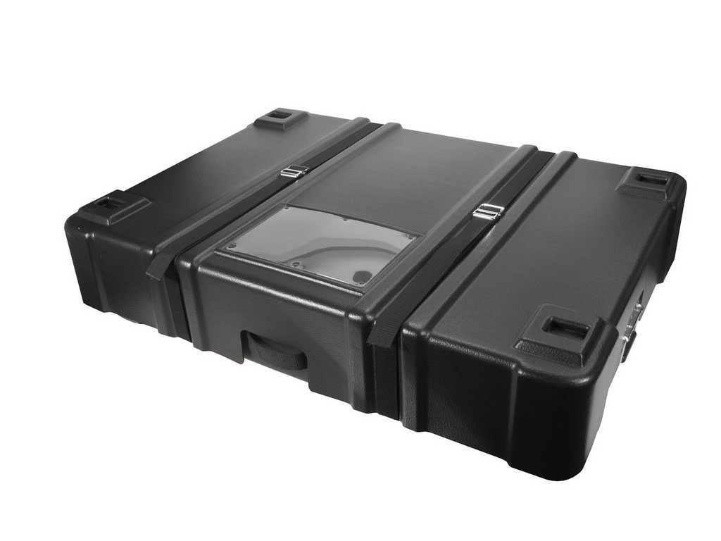Cases By Source C362012-278 Wheeled Tradeshow Panel Case with Adjustable Nylon Straps, 36'' Length, 20'' Width, 12'' Height, Black