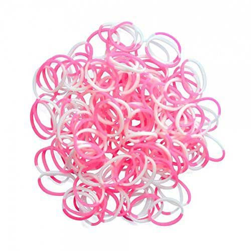 Choon's Design LLC Rainbow Loom Pink & White Silicone Bands