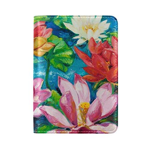 Reisepasshülle aus COOSUN One Pocket Seerose für Leder Travel 4q55x7Pw