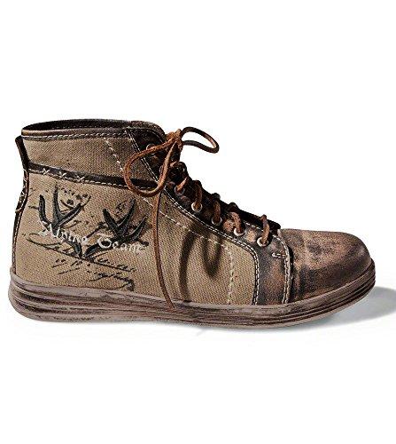 Trachtenstiefel 1295 - witzige Stiefel im Retrolook von Stockerpoint, die trendigen Schnürstiefel oder Trachten Sneakers für Männer vervollkommnen jede Tracht, Farbe Braunvintage