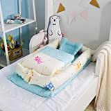 MisDress Baby Nest for Bed - Portable Baby Lounger - Breathable and Hypoallergenic Co-Sleeping Baby Bed - 100 Cotton Portable Nest for Newborns 0-24 Months