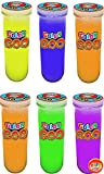 JA-RU Slime Test Tube Sludge (Pack of 6) Dr. Wacko's Mad Lab Goo, Glowing Alien Colors Sensory Educational Toy | Item # 5437-6p