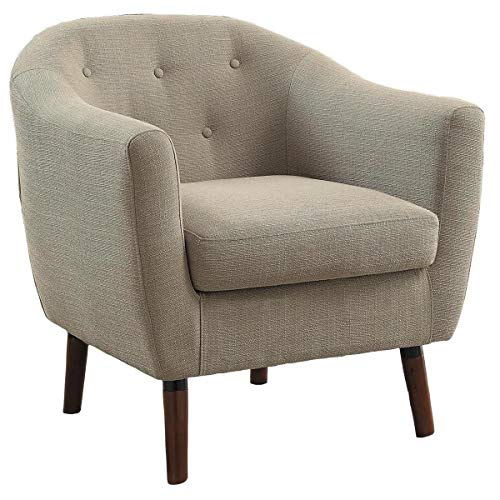 Fabulous Amazon Com Lucy Mid Century Accent Chair In Fabric Beige Uwap Interior Chair Design Uwaporg