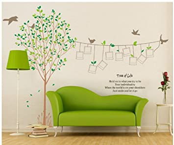 Topro X Large Photo Trees Tree Of Life Frames Wall Art Stickers Decal For  Home Room