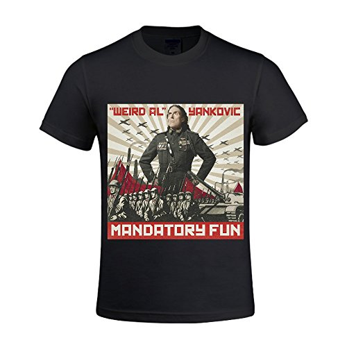 Weird Al Yankovic Mandatory Fun Men Tee Crew Neck Slim Fit Black