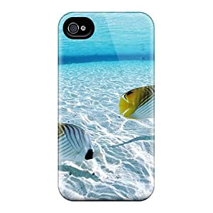 New Cute Funny Clear Water Fishes Case Cover/ Iphone 4/4s Case Cover