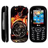 Cosmos 3 Case, Stylish Snug Fitted Hard Protector Cover Snap On Case with Customized Design for LG Cosmos 3 VN251S, LG Cosmos 2 VN251 (Verizon) from MINITURTLE   Includes Clear Screen Protector and Stylus Pen - Blazing Hot Wheels