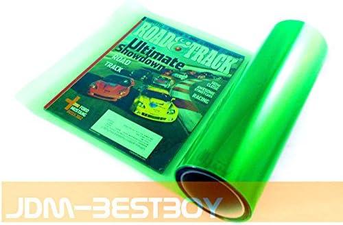 1FT x 2FT JDMBESTBOY Free Tool Kit 12x24 Glossy Emerald Green Tint Headlight Fog Lights Taillight Smoke Vinyl Film Self Adhesive