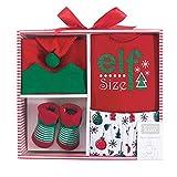 Hudson Baby Unisex Holiday Box Set, Elf Size, 0-6