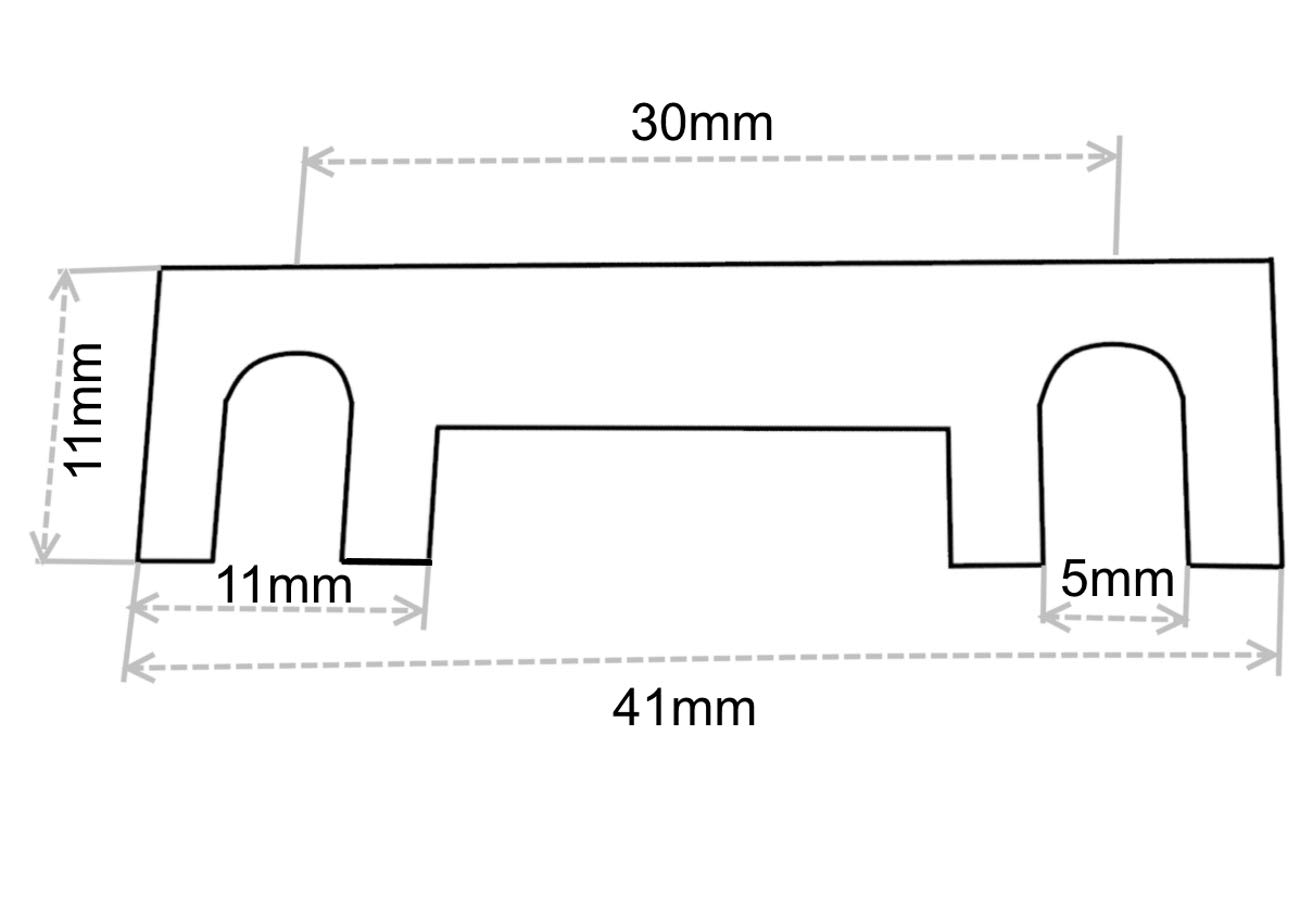 10 fusibili 30 A a Linguetta Lama per portafusibili Corrente Forte C42203 Aerzetix