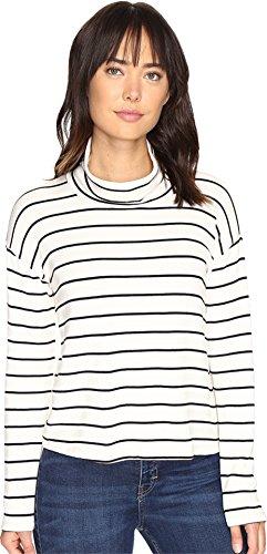 - Splendid Women's Dune Stripe Crop Turtleneck White/Black X-Large